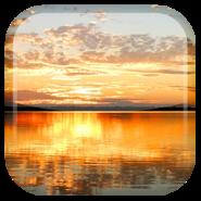 Закат Озеро живые обои (Wasabi)