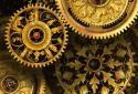 Gold world time clock
