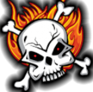 Flames and Skulls