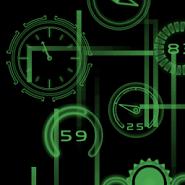 Neon Clock GL Live wallpaper