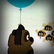 Винни Пух и пчёлы ЖИВЫЕ ОБОИ