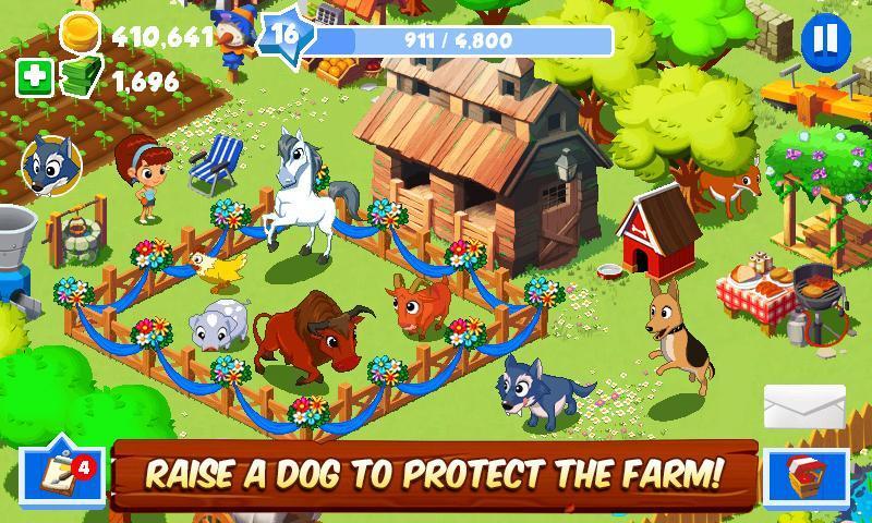 скачать игру веселая ферма мод много денег на андроид