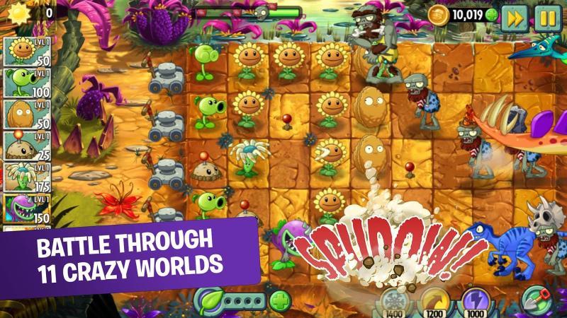 скачать игру на андроид зомби против растений 2 много денег