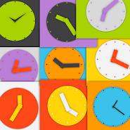 Wow KitKat Clock Widgets