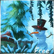 Winter Cartoon Forest
