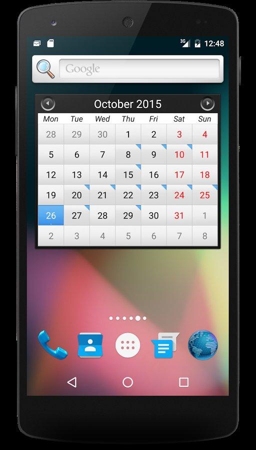 Приложение календарь для андроид на русском скачать