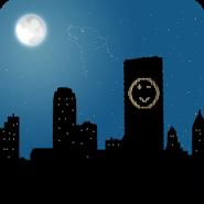 Город ночью Живые Обои