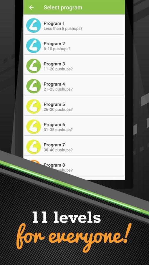 Скачать программу 100 отжиманий на андроид