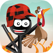 Stickman Turkey Hunter