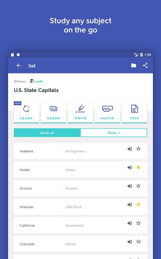 Quizlet скачать 1.5.5 APK на Android