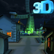 Cartoon Town 3D Live Wallpaper