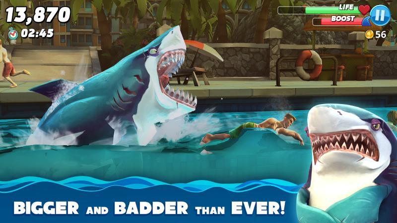 скачать игру hungry shark world на андроид с бесконечными деньгами
