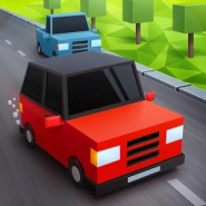 Blocky Cars: Traffic Rush