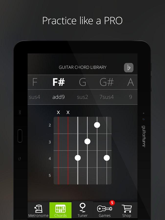 guitar tuner free guitartuna 3 5 4 android. Black Bedroom Furniture Sets. Home Design Ideas