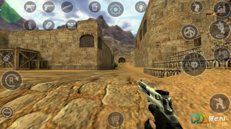 Counter-strike 1. 6, with multiplayer, gets unofficial android port.