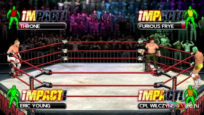 Tna Impact Cross The Line V0 7 53 For Psp