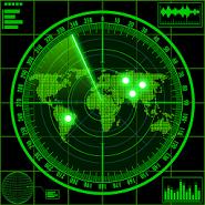 Radar locator UFO simulator