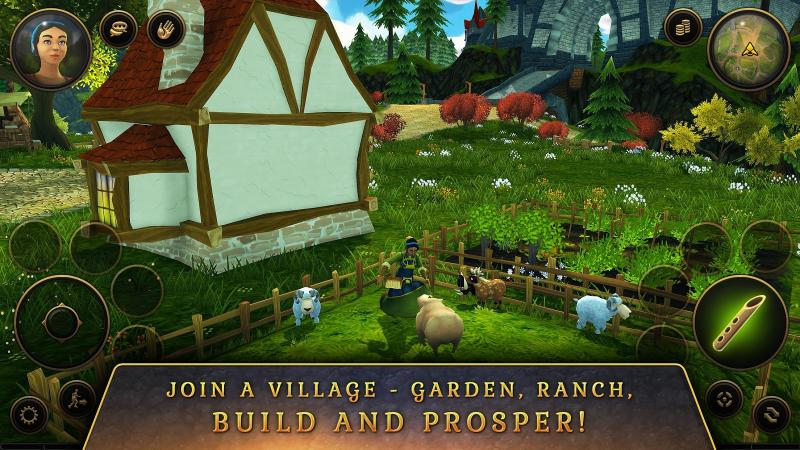 3D MMO Villagers & Heroes Screenshot