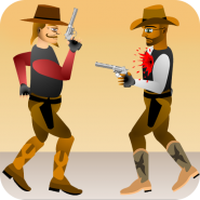 Western Cowboy Gun Blood