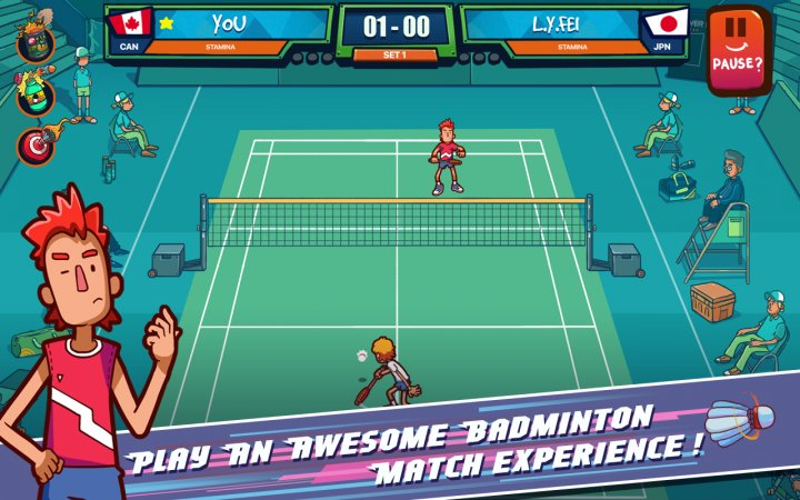 Super Stick Badminton Screenshot