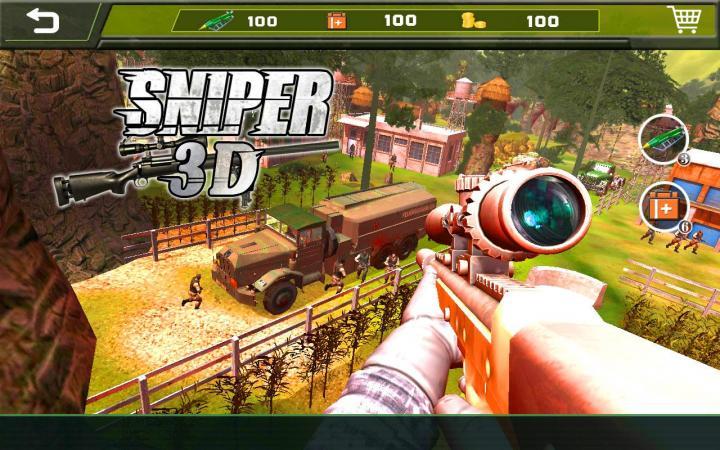 скачать игры на андроид sniper 3d много денег