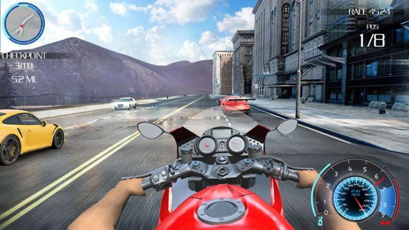скачать игру highway rider на андроид мод много денег