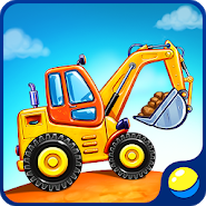 Truck games for kids - house building car wash