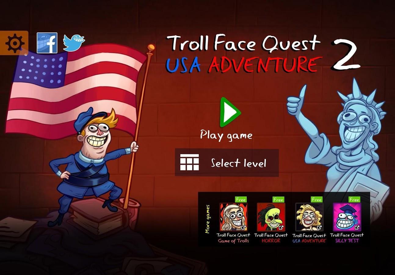 Troll Face Quest: USA Adventure 2 скачать 2 на Android