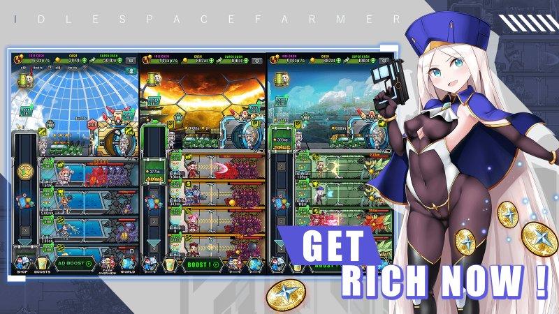[Game Android] Idle Space Farmer - Waifu Manager Simulator