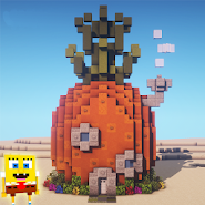 Bikini Bottom and Pineapple House Map MCPE
